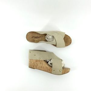Lucky Brand | Studded Cork Wedges